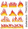 Flame collection. Vector - stock vector