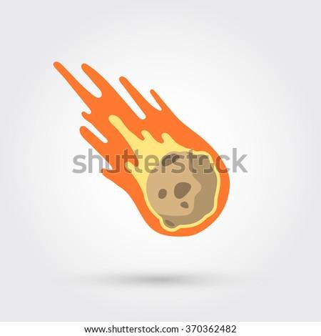 Flame meteorite - stock vector