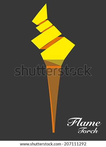 Flame Torch Symbol Origami Style Stock Vector 2018 207111292