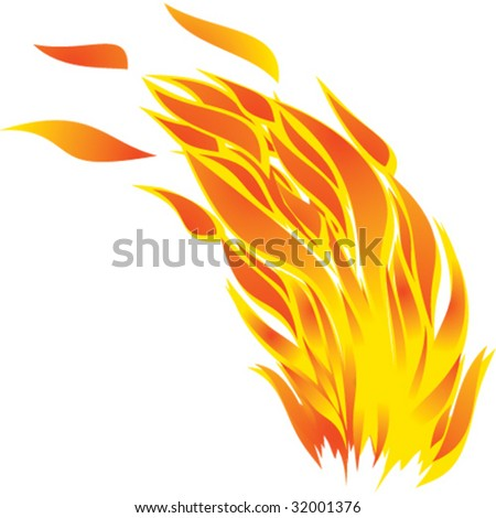 Flame.Vector image