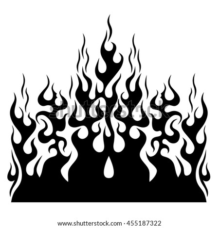 flame vector fire colored tribal flames stock vector 535220752