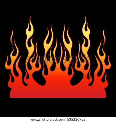 Flames Vector Icon Stock Vector 535220752 - Shutterstock