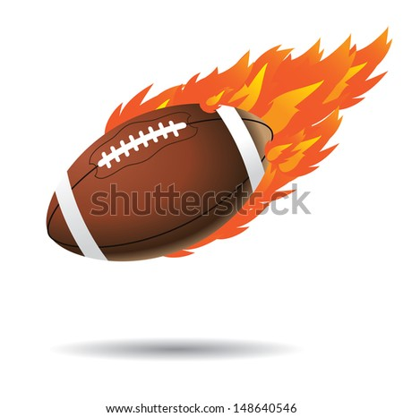 flaming football. EPS 10 vector, grouped for easy editing. No open shapes or paths. - stock vector