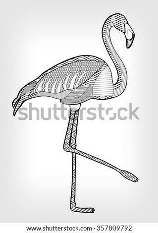 Lawn flamingo stock images royalty free images vectors flamingo in hatched design flamingo isolated flamingo bird drawing flamingo in black and pronofoot35fo Images