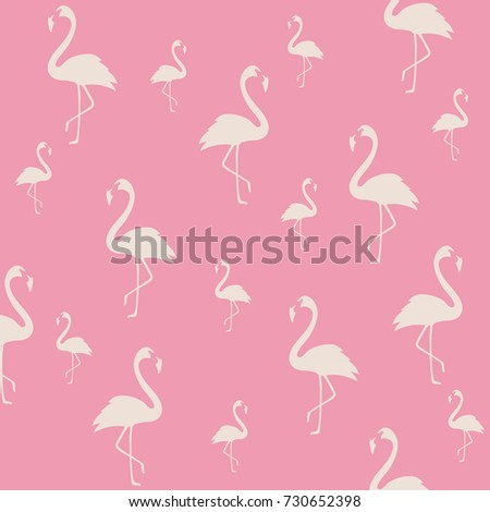 Flamingo Poster Design Wallpaper Invitation Cards Textile Print Vector