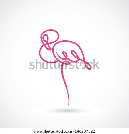Flamingo - vector illustration - stock vector