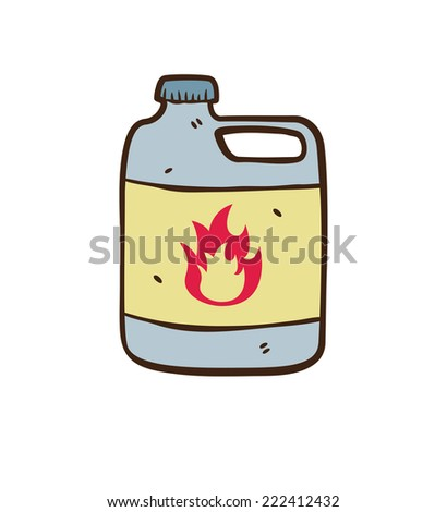 flammable chemical  - stock vector