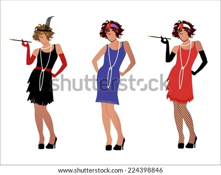 Flappers  - stock vector