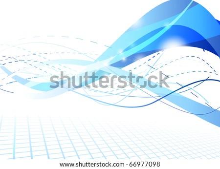 Flare futuristic background. Vector illustration - stock vector