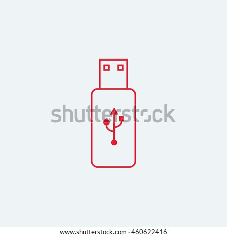 Flash Drive Line Art Icon Logo