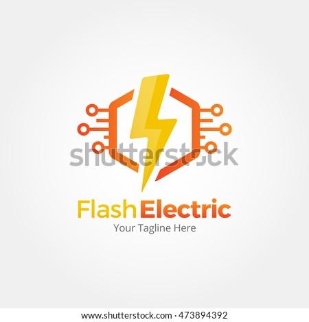 Flash Electric Logo Template