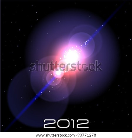flash in space - stock vector