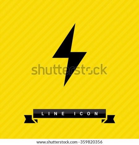 flash isolated minimal single flat icon. Energy line vector icon for websites and mobile minimalistic flat design.