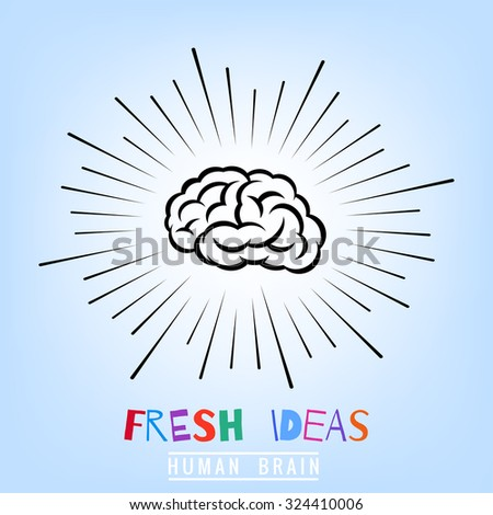 flash of a positive mood, fresh ideas, bright mind logotype  - stock vector