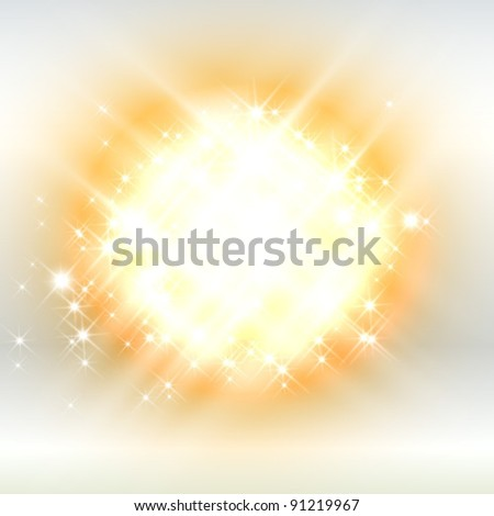 flash on white background - stock vector