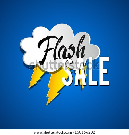 Flash Sale vector illustration - stock vector