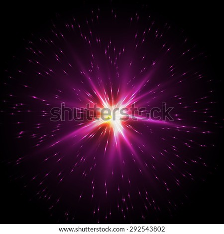 Flash Star, Light flare special effect. vector illustration.