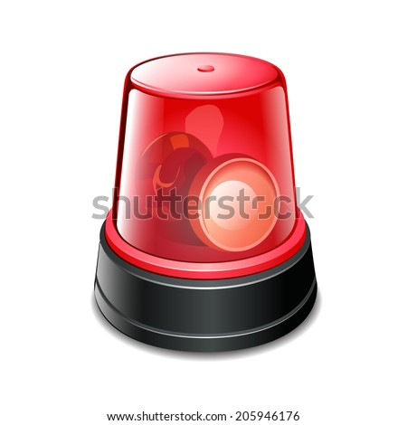 flashing light - stock vector