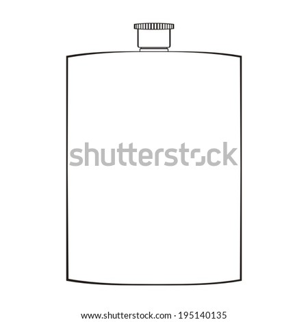 Flask Template Blank Alcohol Flask Stock Vector (Royalty Free ...