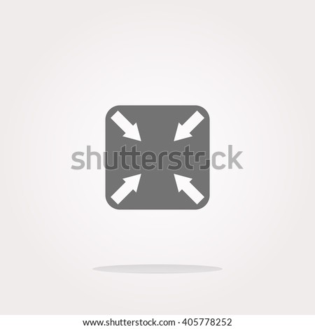 flat Arrow vector icon - stock vector