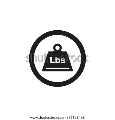 Flat Black Weight Pounds Web Icon Stock Vector 2018 596189468