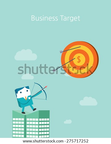 Flat Business character Series. business target concept  - stock vector