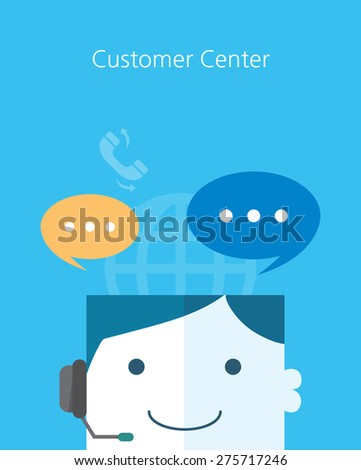 Flat Business character Series.customer center concept  - stock vector