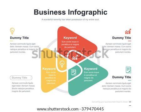 Flat business presentation vector slide template stock vector hd flat business presentation vector slide template with triangle venn diagram ccuart Gallery