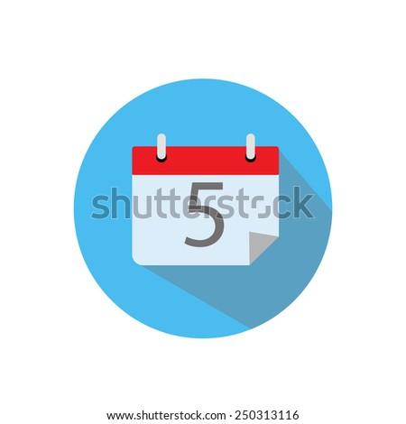 Flat calendar icon..  - stock vector