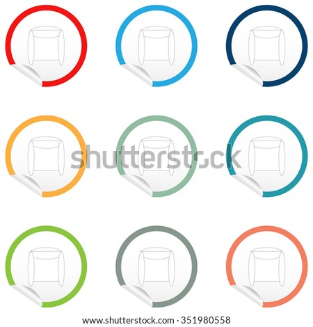 flat chair icon on sticker floor stock vector hd royalty free rh shutterstock com