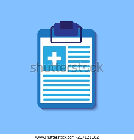 flat clinical record background. vector illustration concept - stock vector