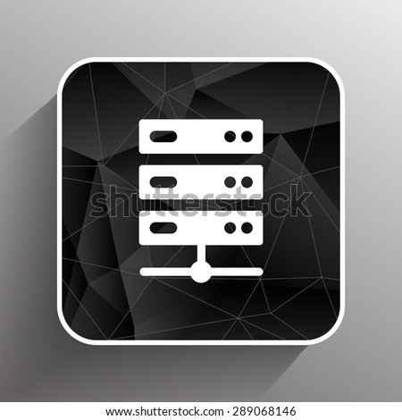 Flat Computer Server system icon vector illustration. - stock vector