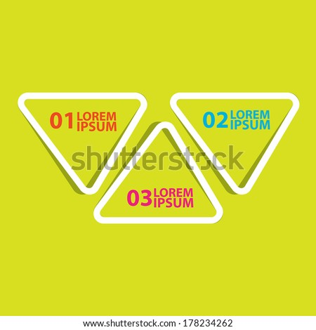 flat cut paper white banners on green background / can be used for infographics / numbered banners / horizontal cutout lines / graphic or website layout vector / brochure or cover design - stock vector