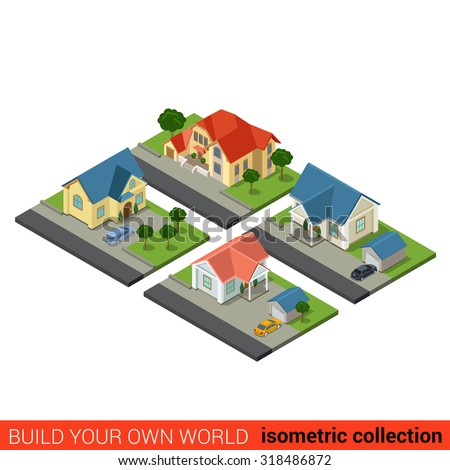 Warehouse vector illustration form isometric view stock for Build your own 3d house