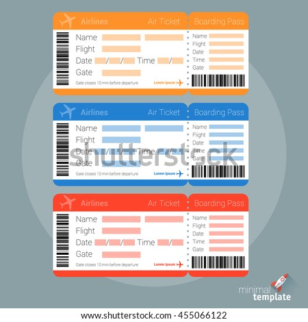 flat design air ticket icon air stock vector 455066122 shutterstock. Black Bedroom Furniture Sets. Home Design Ideas
