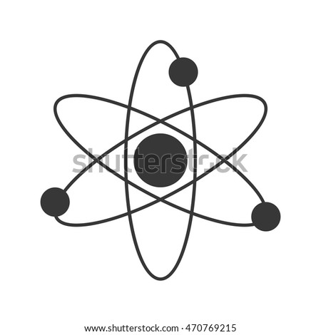 Flat design atom structure icon vector stock vector 470769215 flat design atom structure icon vector illustration ccuart Gallery