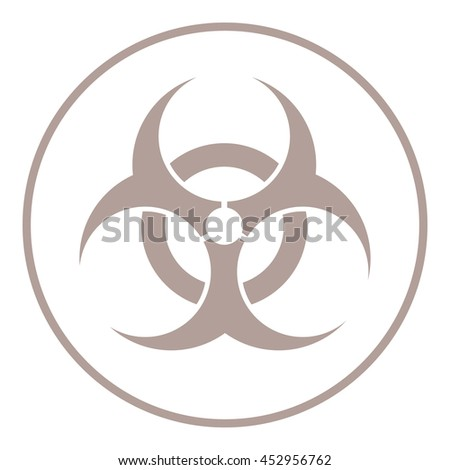 flat design bio hazard icon vector illustration
