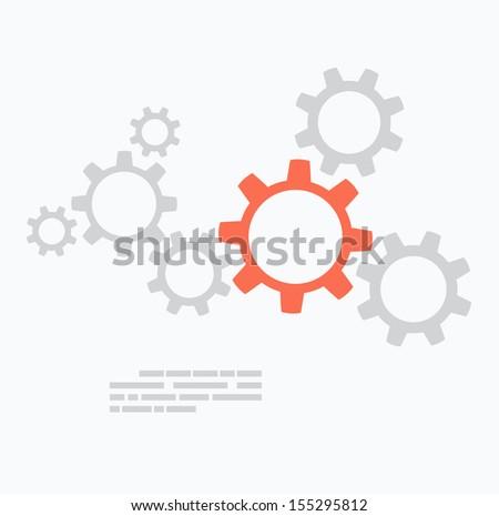 Flat design. Gears concept - stock vector