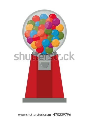 flat design Gumball Machine icon vector illustration