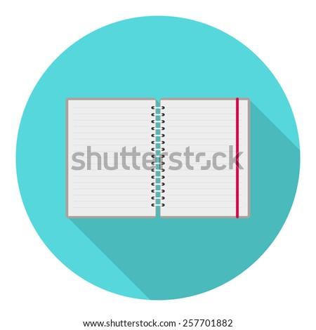 Flat design icon. notebook  - stock vector