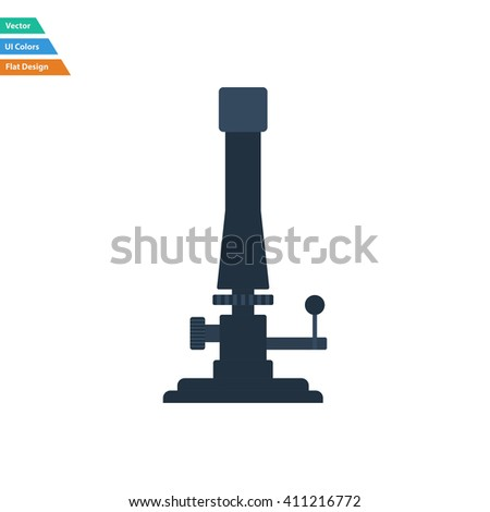 Flat design icon of chemistry burner in ui colors. Vector illustration.
