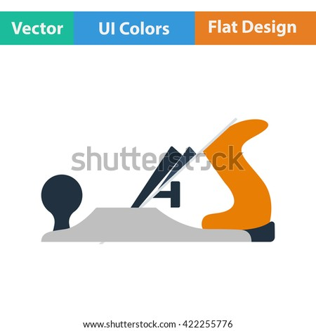 Flat design icon of jack-plane in ui colors. Vector illustration.  - stock vector