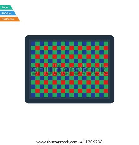 Flat design icon of photo  camera sensor in ui colors. Vector illustration. - stock vector