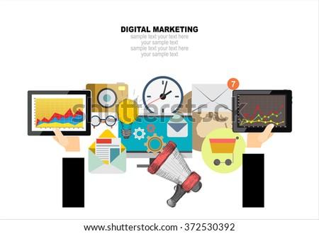 Digital natives stock images royalty free images for Digital marketing materials
