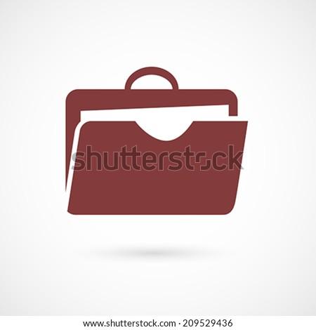 Flat design portfolio icon for web and mobile application design. Vector illustration - stock vector