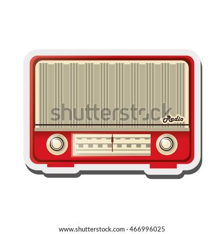 Flat Design Retro Radio Icon Vector Stock Vector 466996025 ...