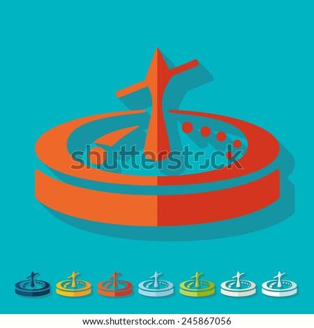 Flat design: roulette - stock vector