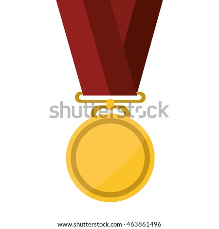 flat design single medal icon vector illustration