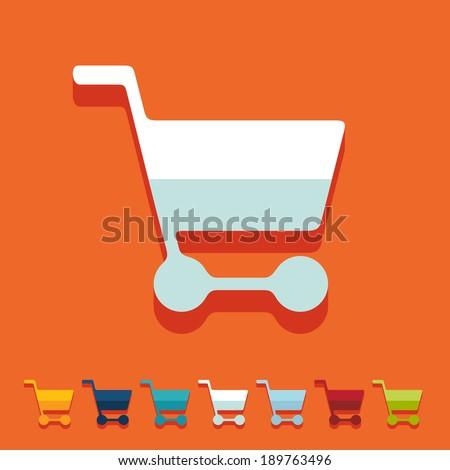 Flat design: trolley - stock vector