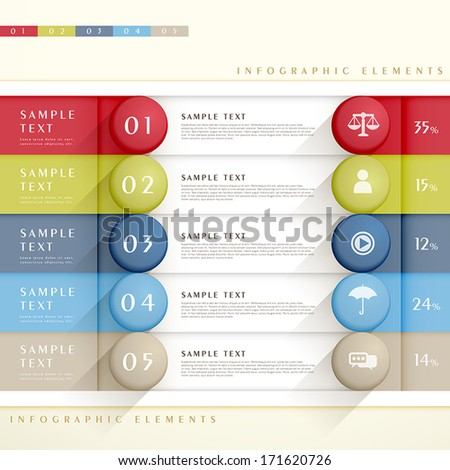 flat design vector abstract banner infographic elements